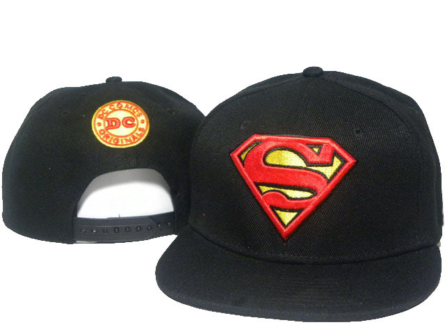 Super Man Black Snapback Hat DD 0512